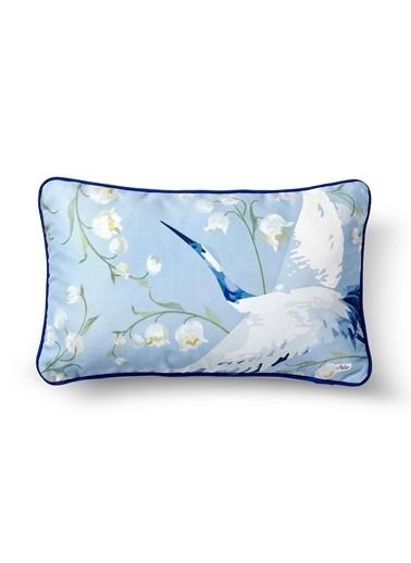 The Mia Leylek Yastık -Açık Mavi 50 x 30cm Mavi
